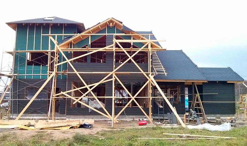 Монтаж наружной панели на финский каркасный дом